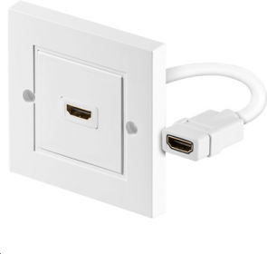 MicroConnect HDMI wall socket 1 port white