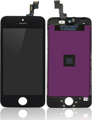 MicroSpareparts Mobile LCD for iPhone 5S Black