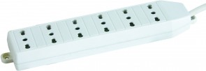 MicroConnect 6-way Italian Socket 3M White
