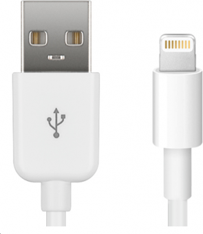 MicroConnect Lightning Cable MFI 1m, White