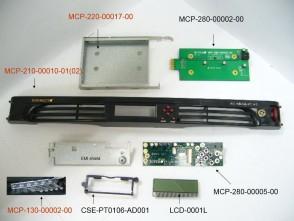 Supermicro COMPLETE BLACK 1U LCD