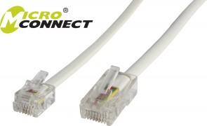 MicroConnect RJ11-RJ45 1M M/M White