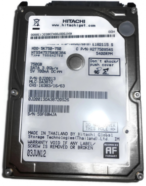 MicroStorage Hitachi 750GB 5400RPM