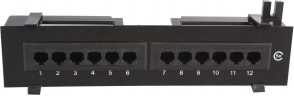 MicroConnect UTP Cat. 5e Patch panel,12port