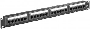 "MicroConnect CAT6 24 port 19""  Patch Panel,"