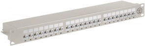 "MicroConnect CAT6a 24 port 19"" Patch Panel,"