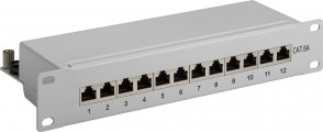 "MicroConnect CAT6a 12 port 10"" Patch Panel,"