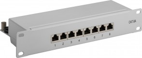 "MicroConnect CAT6a 8 port 10"" Patch Panel,"