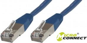 MicroConnect F/UTP CAT6 0.5m Blue LSZH