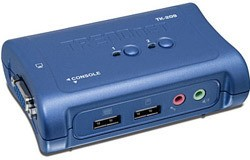TrendNET 2 Port USB KVM Switch kit