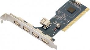 MicroConnect 4 + 1 Port USB 2.0 PCI Card