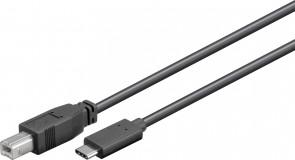 MicroConnect USB3.1 C - USB2.0 B 1m M-M