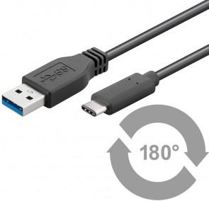 MicroConnect USB3.1 C - USB3.0 A 0.15m M-M