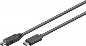 MicroConnect USB - C to Mini USB B 5P 0.5m