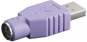 MicroConnect USB Adapter A-plug-PS2 Jack