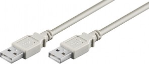 MicroConnect USB2.0 A-A 0,5m M-M, Grey
