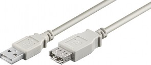 MicroConnect USB2.0 Extension A-A 0,1m M-F