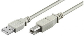 MicroConnect USB2.0 A-B 1.8m M-M