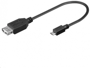 MicroConnect USB A - B Micro  F-M 0,20m