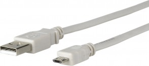 MicroConnect Micro USB Cable, Grey, 0.6m