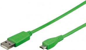 MicroConnect USB A - MicroUSB B 5P 1m Green