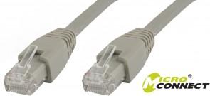 MicroConnect U/UTP CAT6A 0,25M Grey LSZH