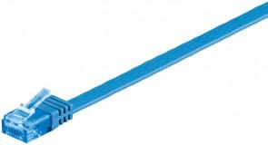 MicroConnect U/UTP CAT6A 1M Blue Flat