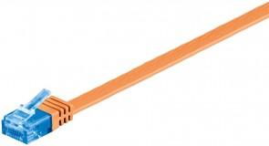 MicroConnect U/UTP CAT6A 0.50M Orange Flat