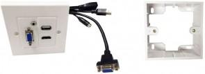 Vivolink Wall Box HDMi + USB + VGA