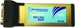 Brainboxes ExpressCard 1 Port RS232