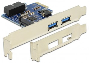 Delock 2 x ext. USB 3.0, LP, PCIe