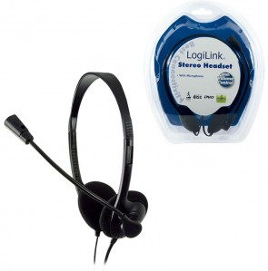 LogiLink Headset Stereo w/mic