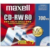 Maxell CD-RW 80  700MB 1-12X JC 10pac