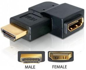 Delock HDMI A -> A 90?left-Ang. ma/fe