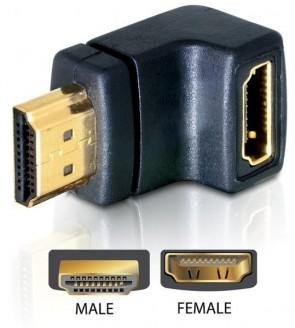 Delock HDMI Typ A ->Typ A fe/ma 90? U
