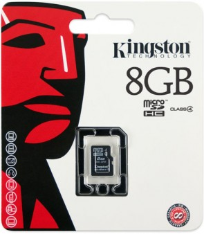 Kingston 8GB MICRO SD Class 4 Simple Pa