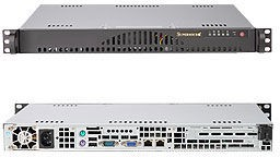 Supermicro 1U, 200W PS (low noise),