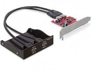 Delock USB 3.0 PCI Express, 2 x exter