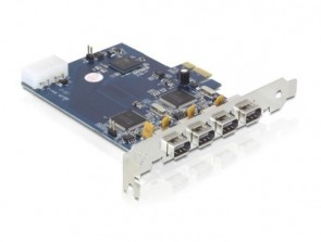 Delock PCI Expr Card 4x FW400 ext
