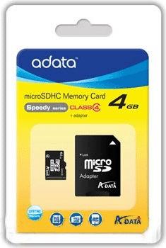 ADATA 4GB MICRO SD Class 4