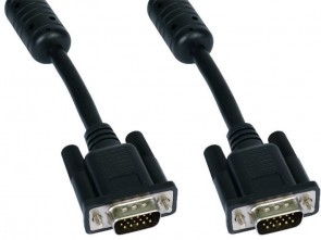 Cables Direct 1M Black SVGA Male - Male