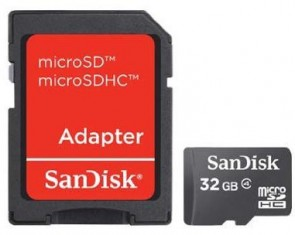 Sandisk MICROSD, 32GB CARD+SD ADAPTER