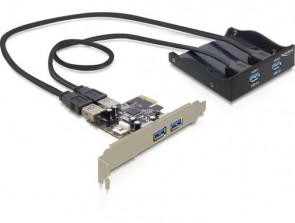 Delock Front Panel + PCI Express Card