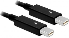 Delock 0.5m Thunderbolt black