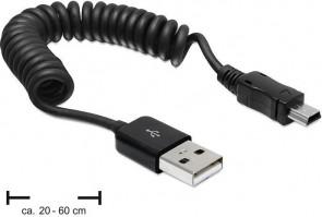 Delock USB A -> mini B ma/ma 20-60cm