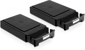 "Delock Storage Box f. 2x 3,5"" HDD Blk"