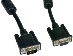 Cables Direct 1M Black SVGA Male - Female