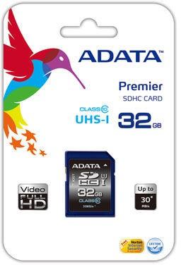 ADATA 32GB SDHC Class 10 USH-I
