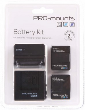 Promounts BATTERY KIT HERO3 / HERO3+
