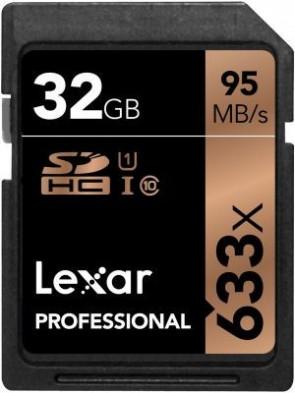 Lexar 32GB 633X PROF. SDHC UHS-1 U1